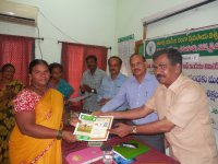 <p>Certificate Distribution to Women SHG trainees by Dr. K. Raja Reddy, DE, ANGRAU &amp; Dr. T.C.M Naidu, ADR, RARS, Tirupati</p>
